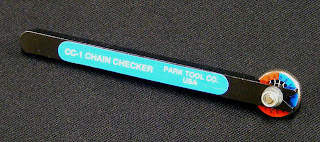 Park Tools CC 1 tool for measuring chain wear and elongation