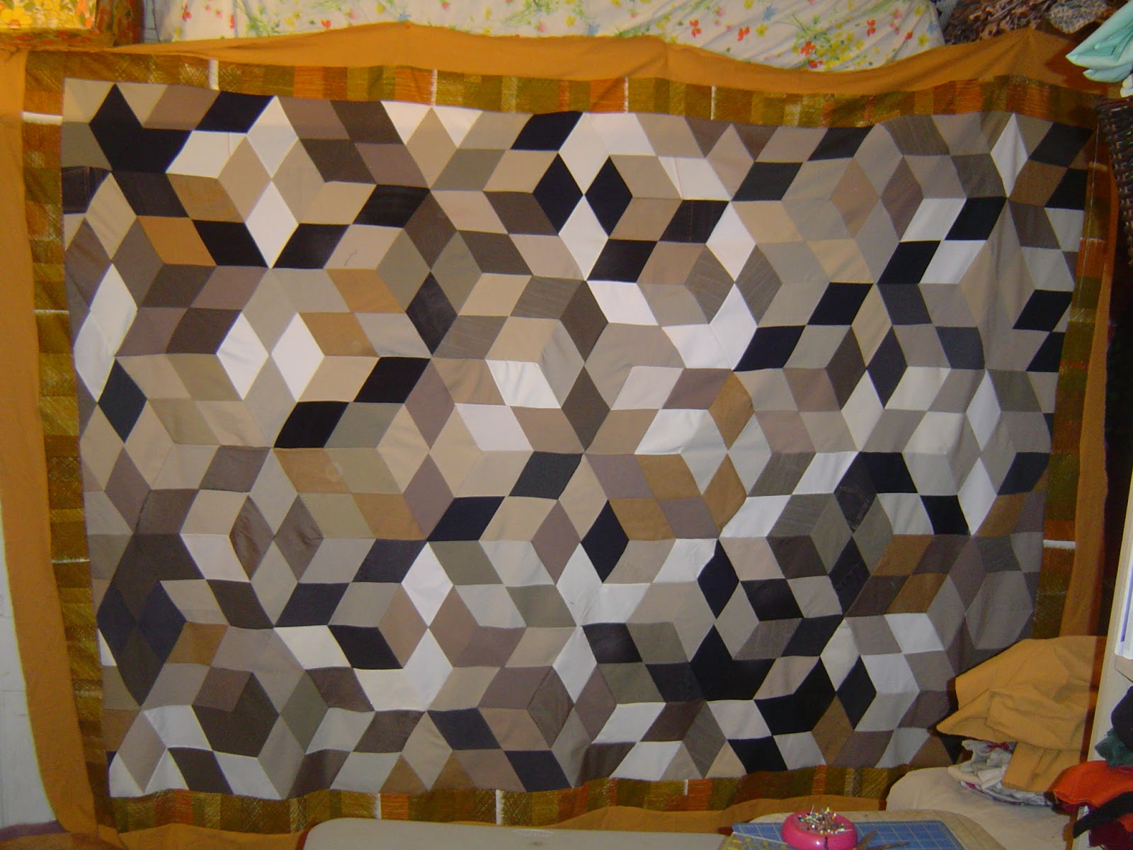 how to make a king size puff quilt