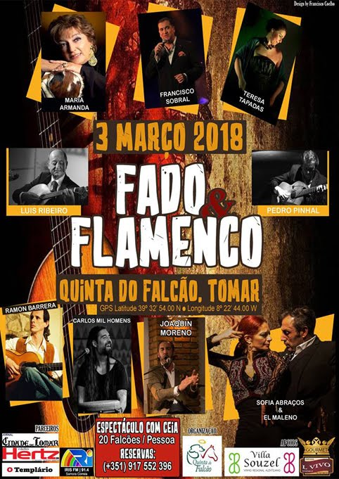 TOMAR (PORTUGAL) 03-03-2018. FINCA DO FALCÄO FADO Y FLAMENCO MANO A MANO.