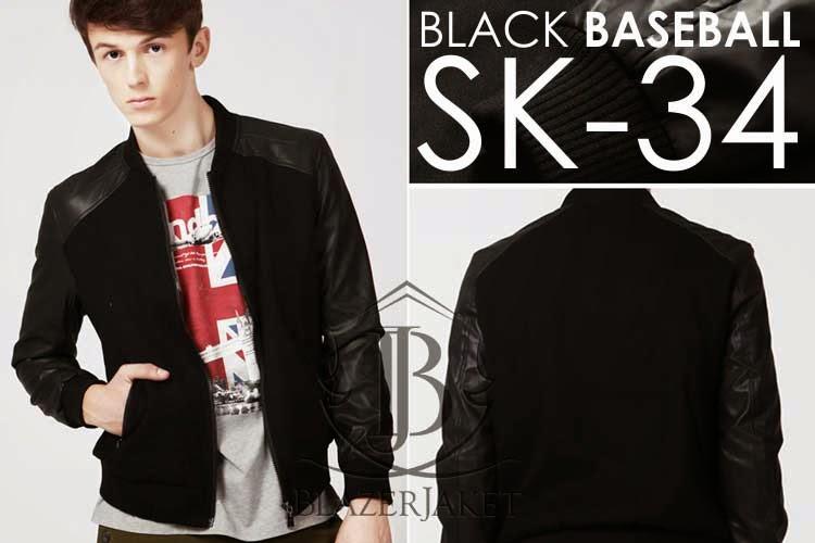 Black Baseball Style Korean Jacket blazerjaket