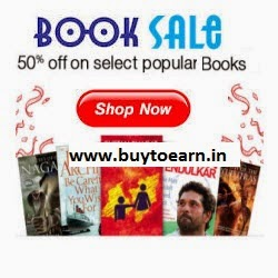 PayTM : Buy Books  – upto 60% off +extra  45% cashback on Rs. 300