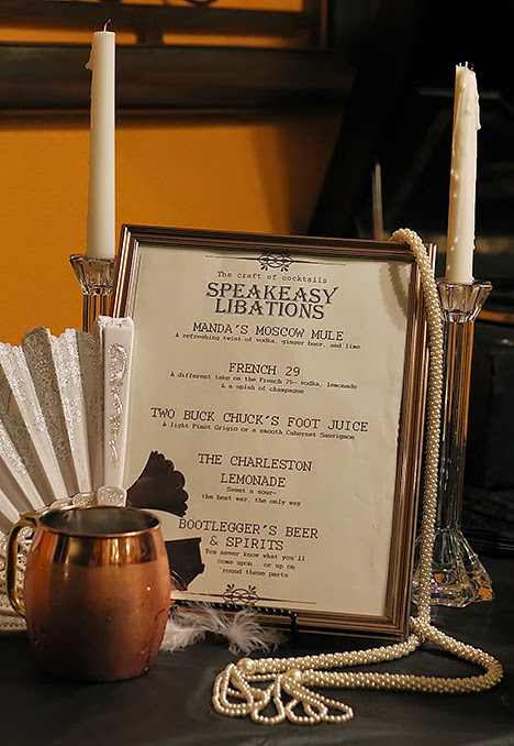 speakeasy party drinks