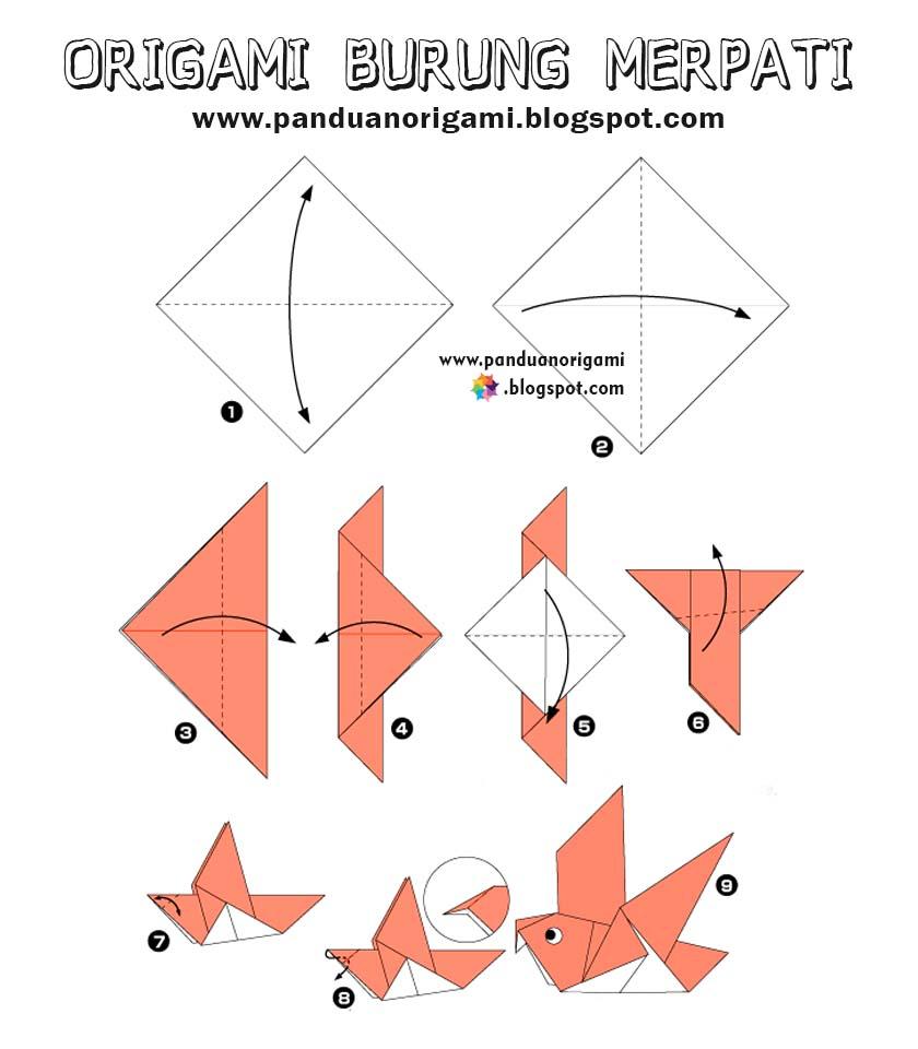 Panduan Cara Membuat Origami Burung Merpati Panduan Belajar