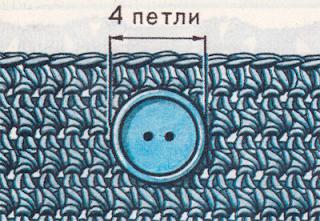 Вязание расклешенной юбки крючком с застежкой спереди.