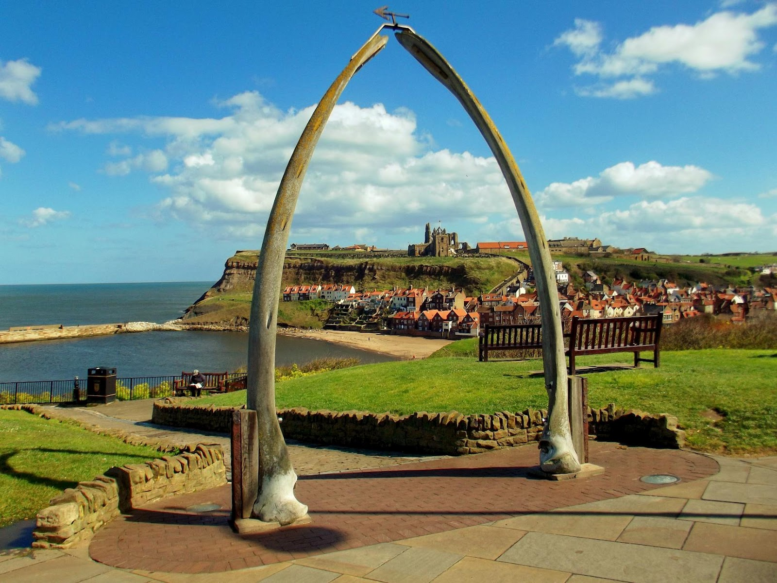 Whitby Wale bones on West Cliff
