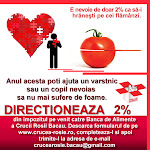 CLICK AICI PENTRU A DIRECTIONA 2% DIN IMPOZITUL PE VENIT CATRE CRUCEA ROSIE BACAU!