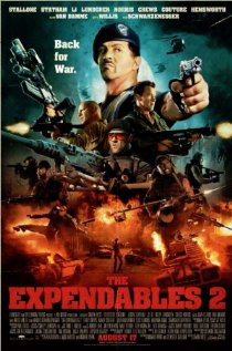 Sylverster Stallone's Expendables 2 movie poster