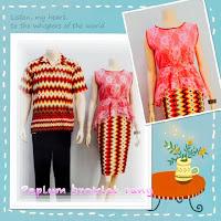 Baju Batik Pasangan Dress Motif Batik Rang Rang
