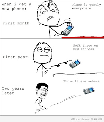 Whenever I buy a new mobile phone..