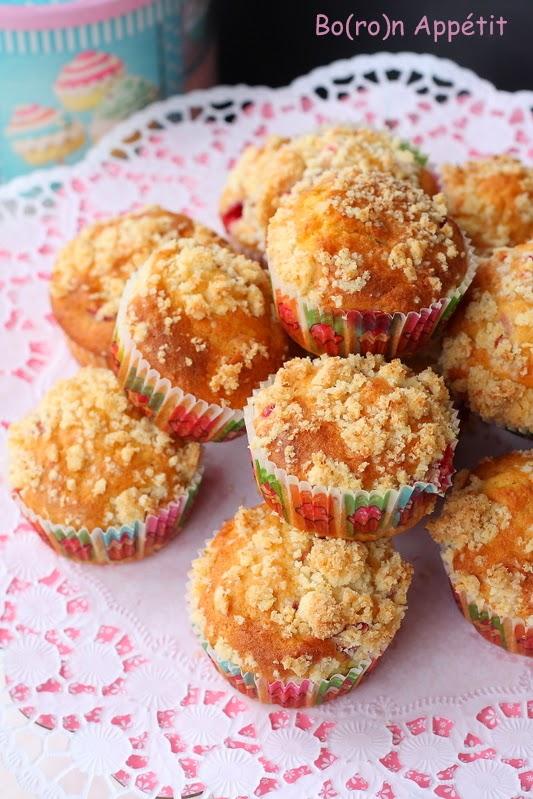 Kokosowe muffiny z truskawkami