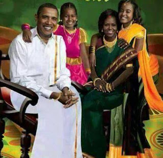 barack obama in indian dress