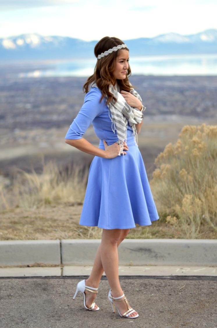 Blue Dress Heels Cocktail Dresses 2016