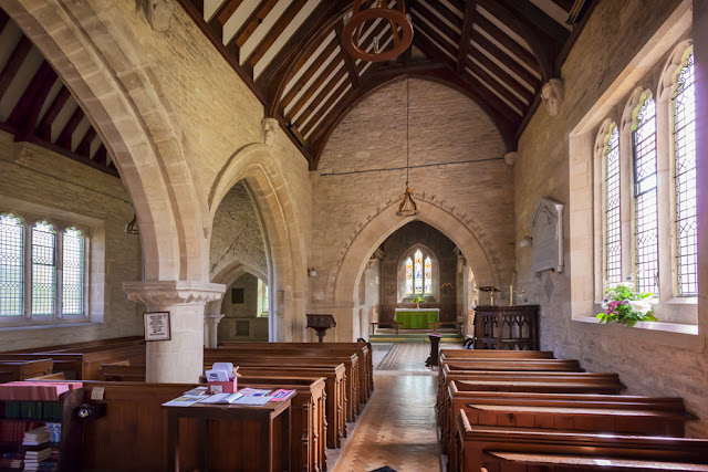 The interior of the church at Asthall village in the Cotswolds by Martyn Ferry Photography