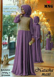 natasha maxi dress warna ungu muda