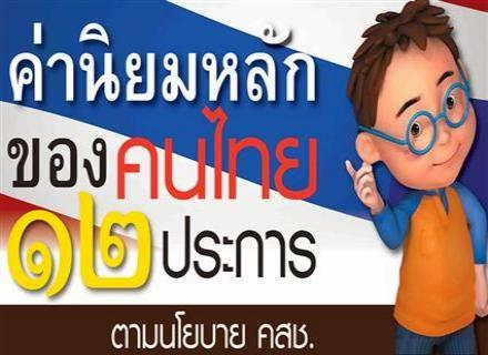 ค่านิยมหลักของคนไทย 12 ประการ