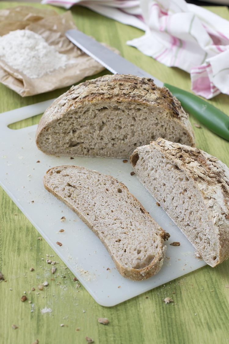receta de pan integral con pipas de girasol
