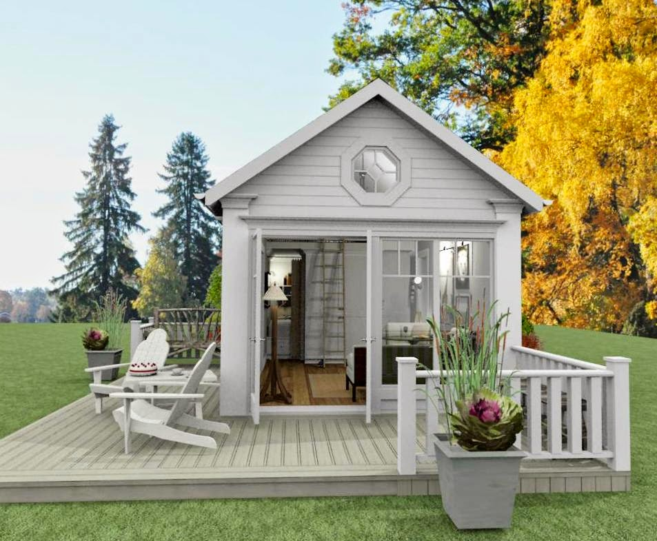 Den Vita Drömgården: Attefallshus med eget sovrum