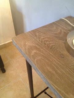 Meubelrenovatie renovatie eiken nachtkastje en wandtafel - Eigentijdse nachtkastje ...