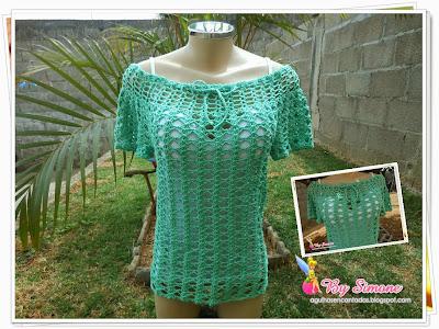 Blusa Si Rezende, blusa em crochê, blusa crochê circular