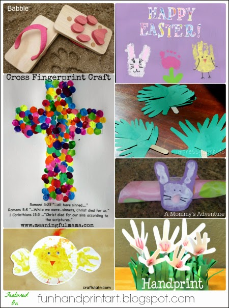 30+ Handprint & Fingerprint Easter Crafts fr Kids