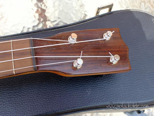 Wunderkammer Ike Soprano ukulele headstock