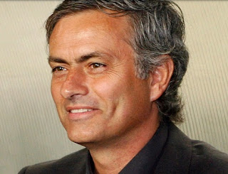 Mourinho smiling. Image of Real Madrid website