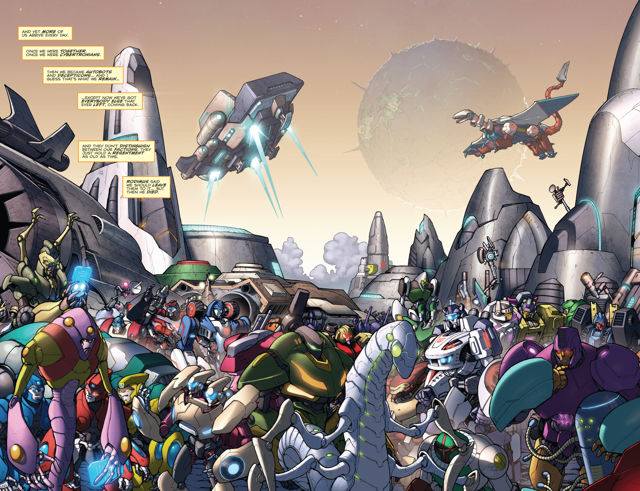 Población de Cybertron Transformers: Robots in Disguise nº 1