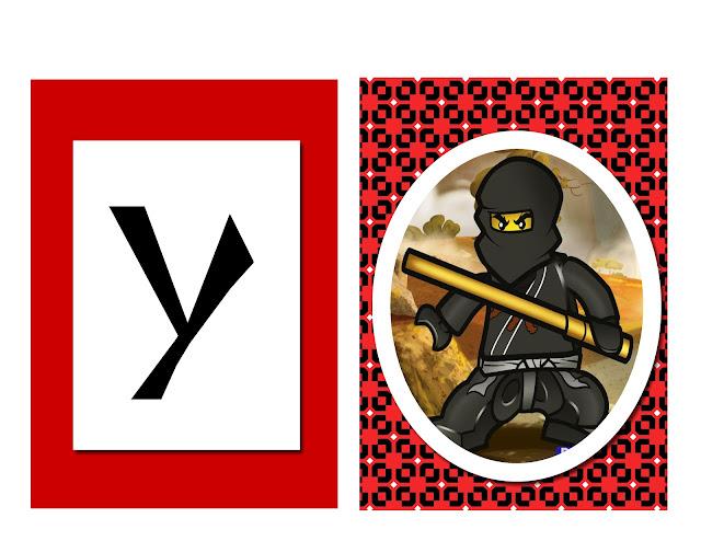 fiesta, Ninjago, imprimibles, imágenes, recortables, rótulo happy birthday