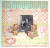 LO, layout, scrapbook, recuardos, decoración boda, wedding decoration, violín cantarín