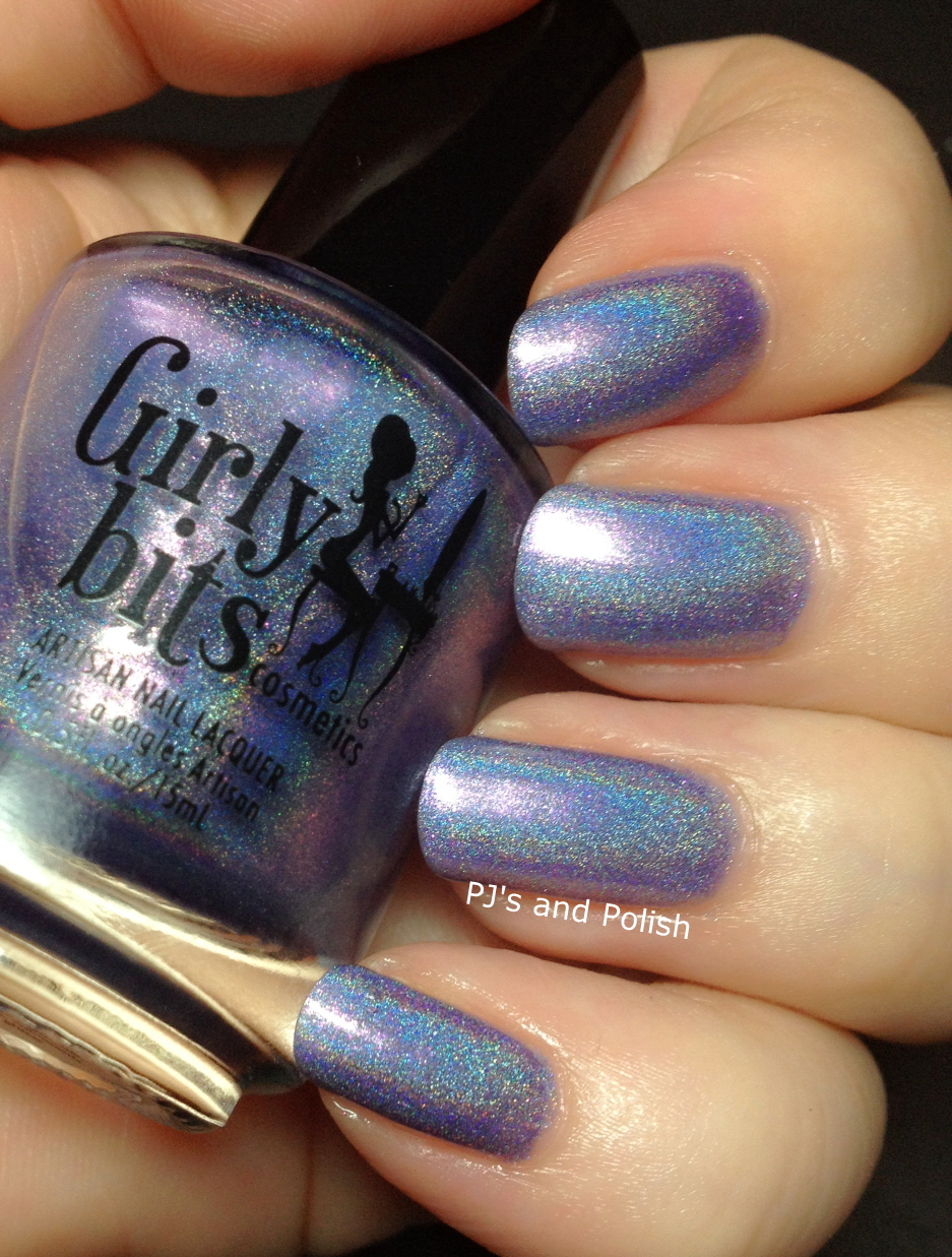 Swatch & Review Girly Bits Twitterpated Holo Shimmer HK Girl
