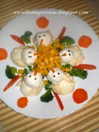 Kaczuszki z jajek i twarożku