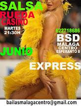 BAILA  SALSA CUBANA, RUEDA CASINO INICIACIÓN EN JUNIO EN BSD MÁLAGA CENTRO.