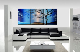 "Abstract Painting ""Blue Sky Tree"" by Dora Woodrum"