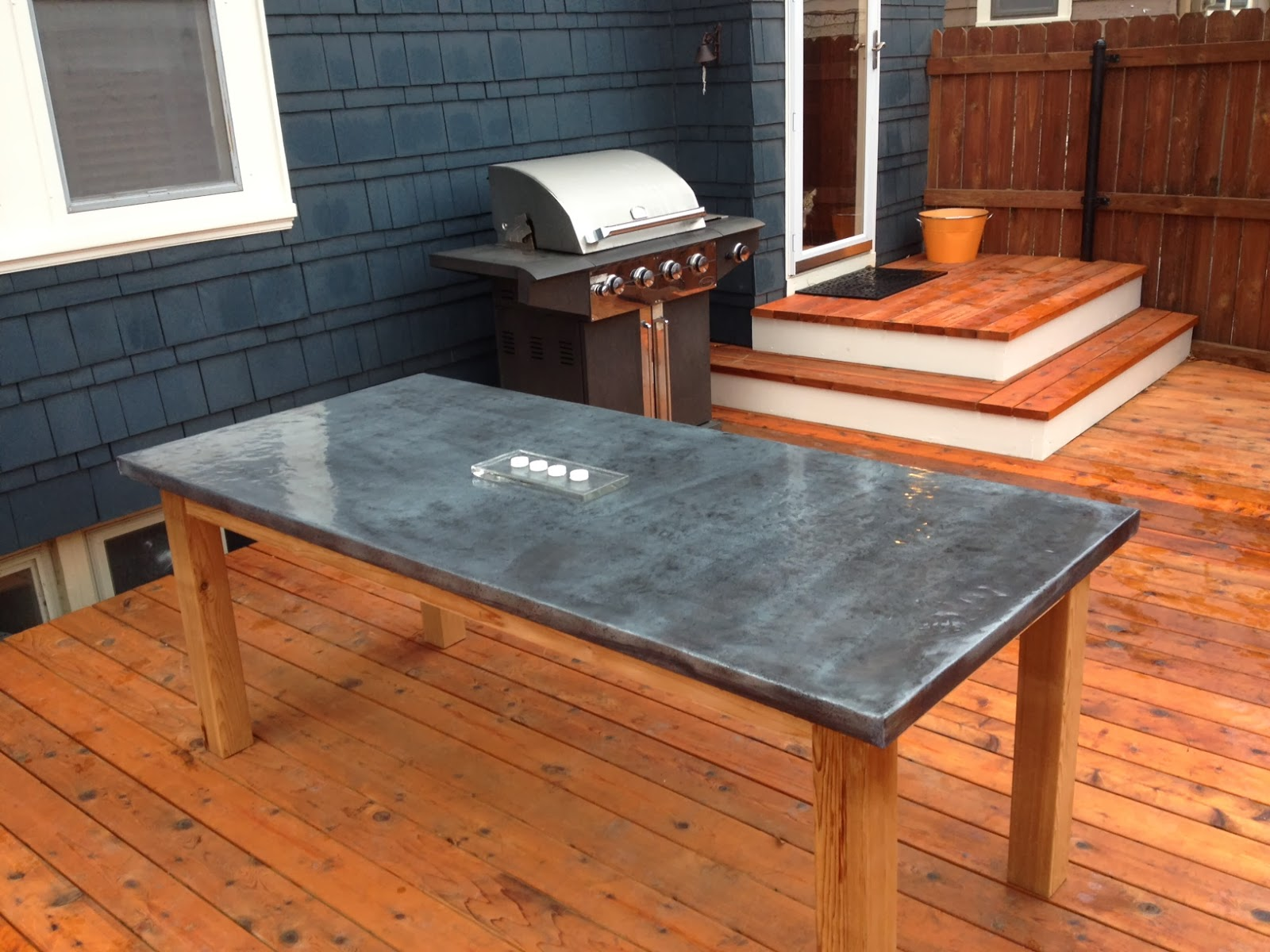 How To Make A DIY Outdoor Zinc Table