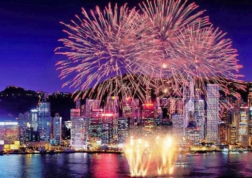 Happy New Year 2014 Countdown Hong Kong