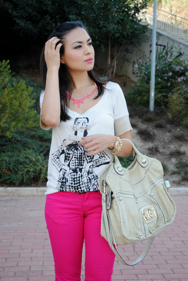 look, style, streetstyle, pink jeans, zara, H&M, mango, fashion