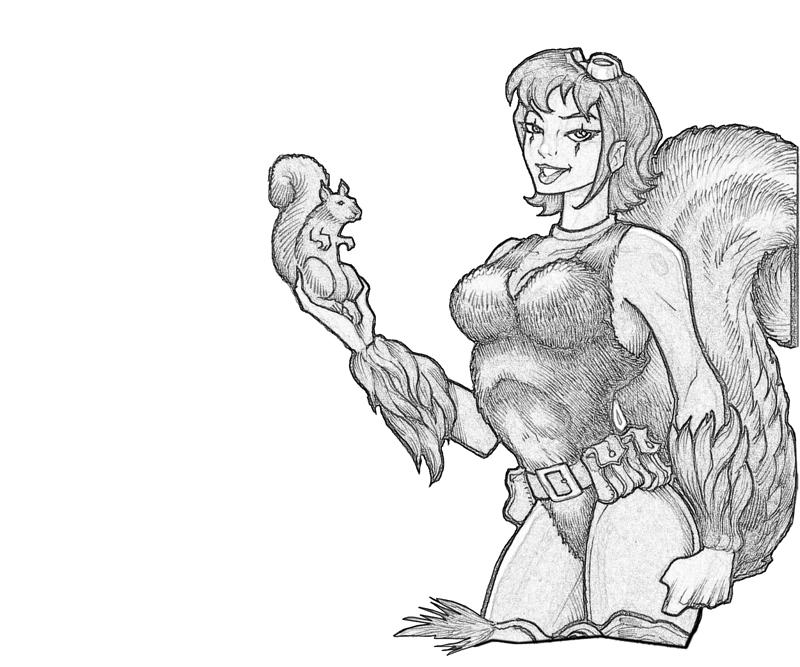 squirrel girl beautiful coloring pages - Beautiful Coloring Pages Girls
