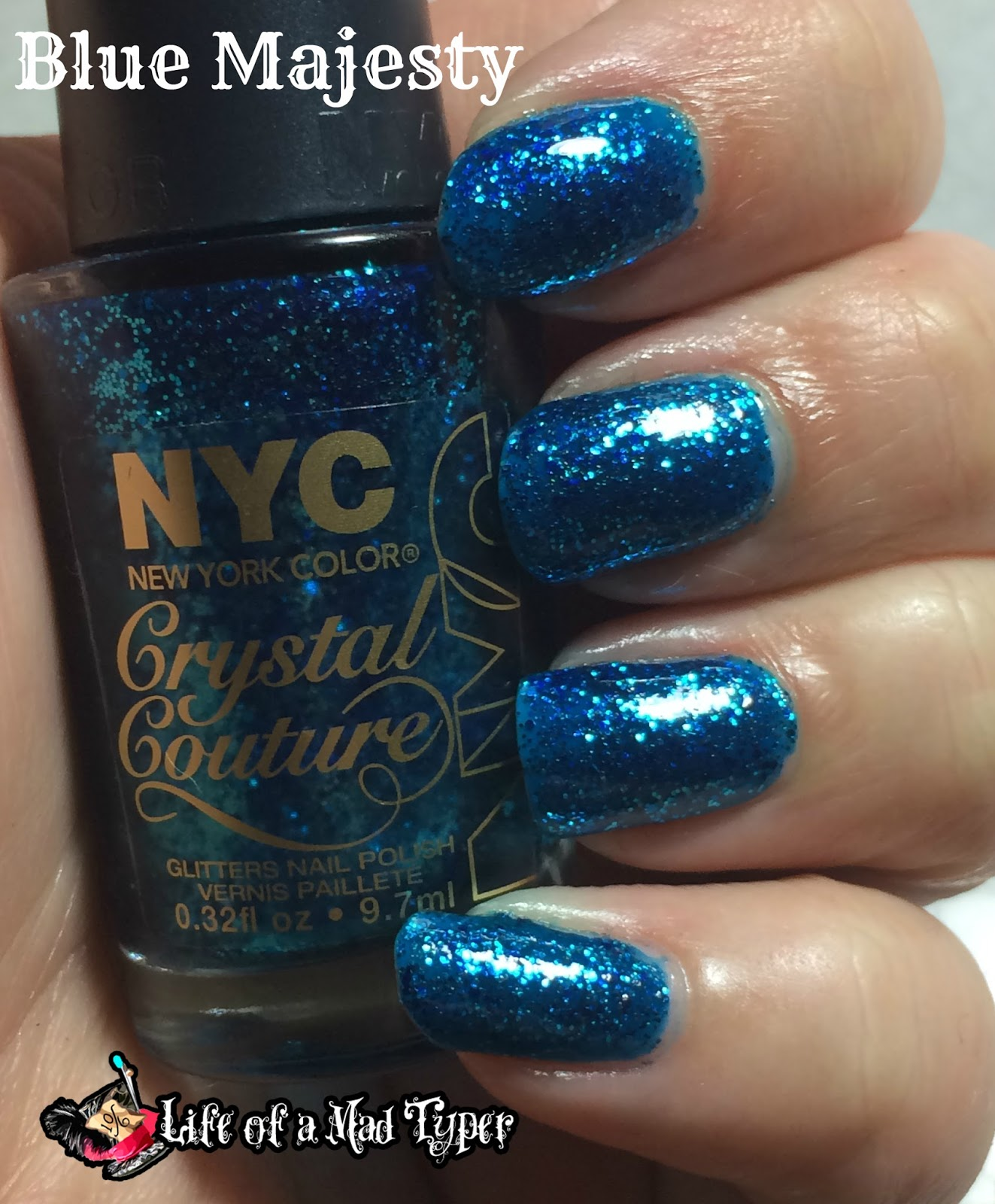 NYC Fashion Queen Crystal Couture Collection Blue Majesty