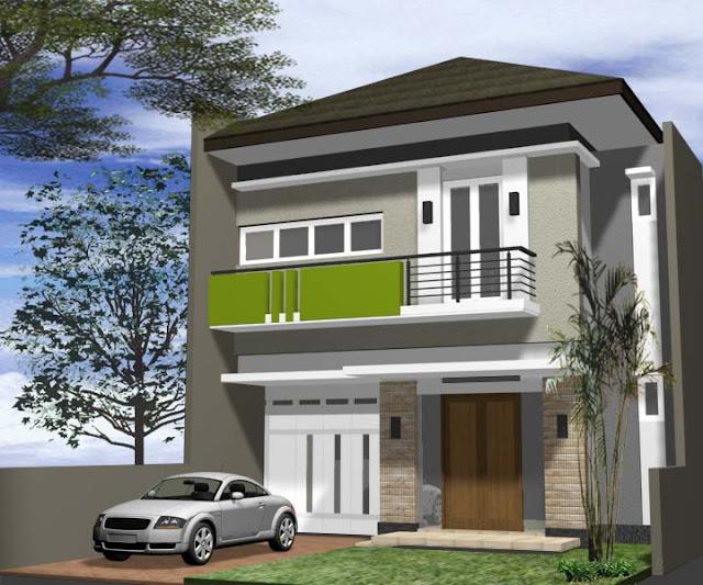 Rumah Modern minimalis 2 Lantai