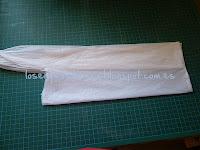 Bolsa de plástico doblada longitudinalmente