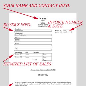 Cartoon Invoices: How To Invoice