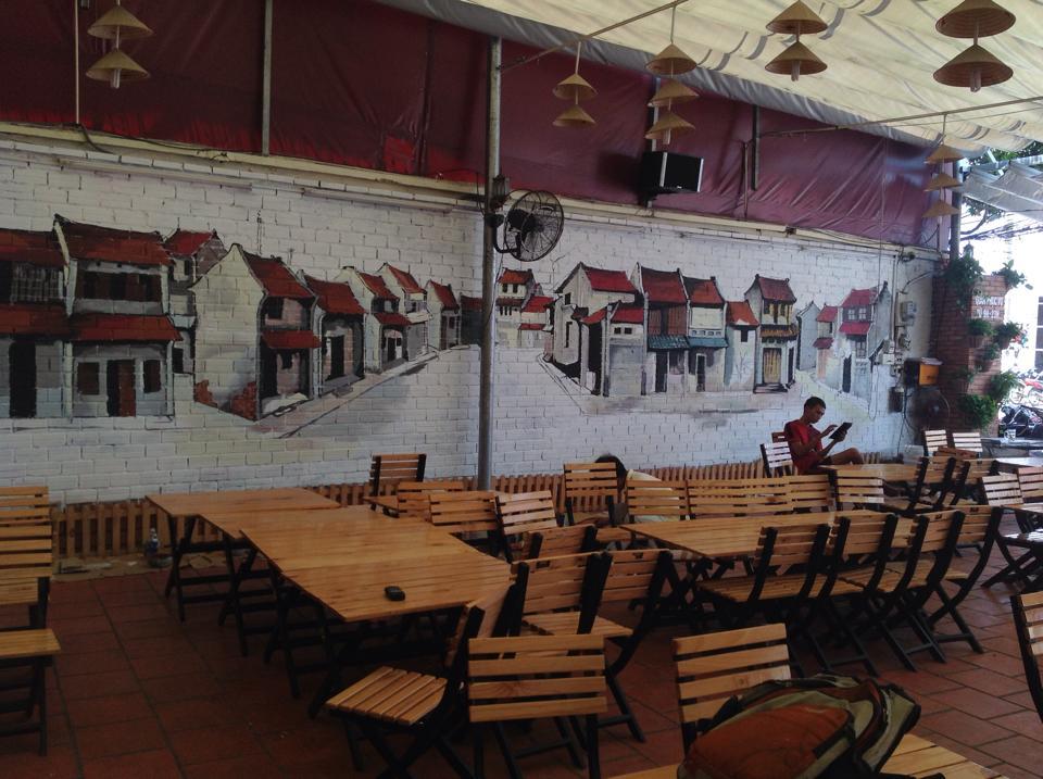 Kết quả hình ảnh cho vẽ tranh tường quán cafe giá rẻ