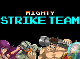 Screenshots of the Mighty strike team for Android tablet, phone.