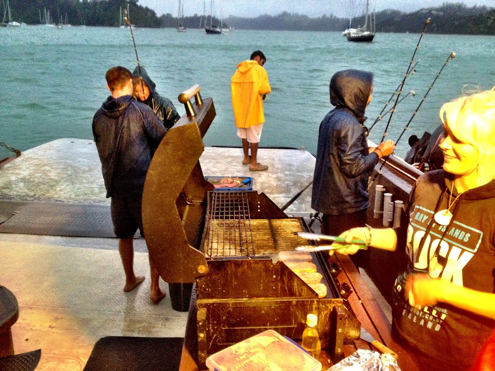 Fishing followed by a BBQ on The Rock, Bay of Islands