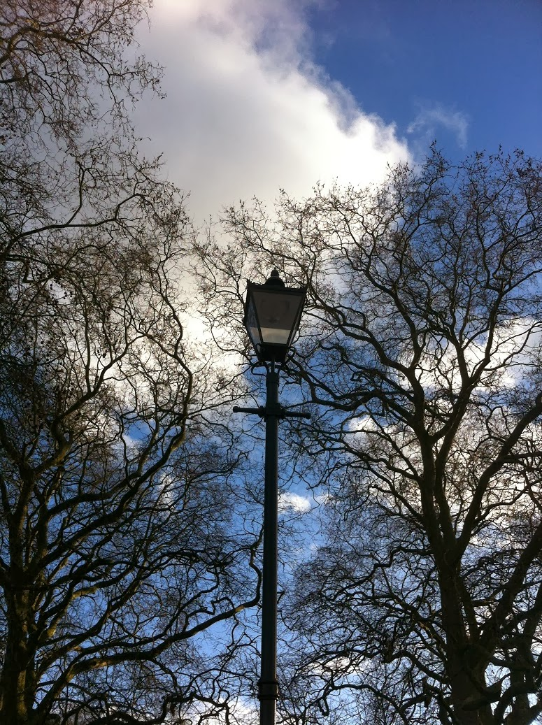 Street lamp in Battersea Park, London