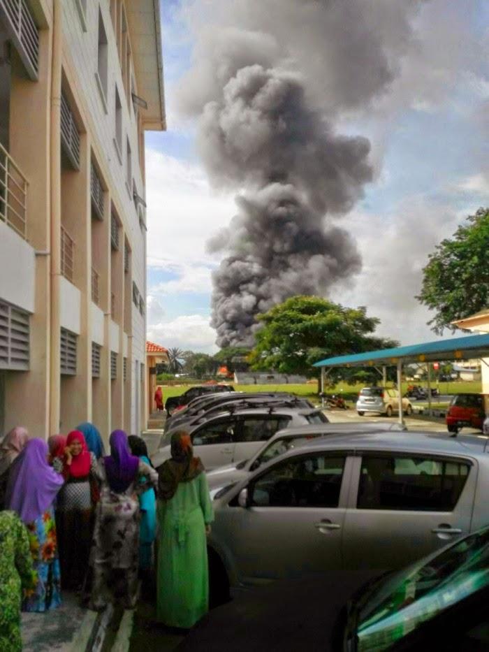 Kebakaran di Politeknik Ungku Omar Ipoh