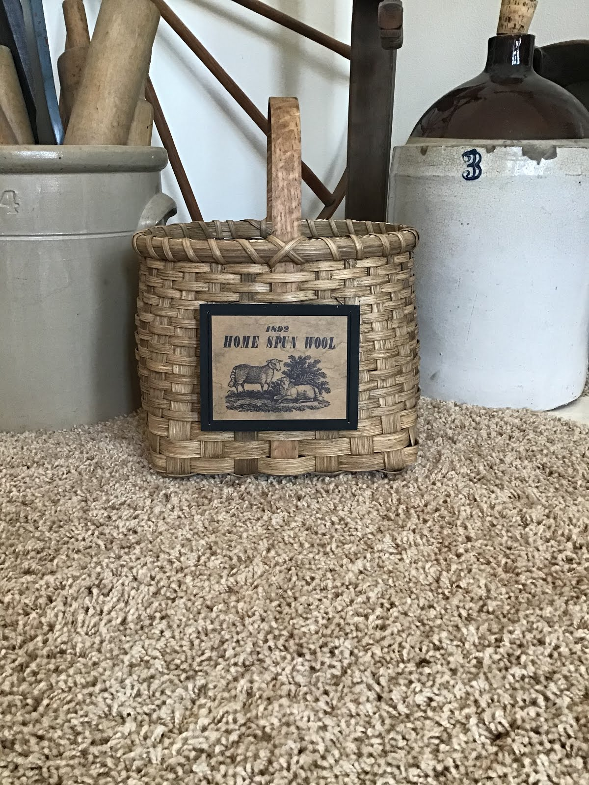 Wool Roving storage basket