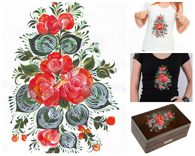Clip Art Flowers buqeut in Russian style Volkhovskaya Printout Digital File own print Instant Download