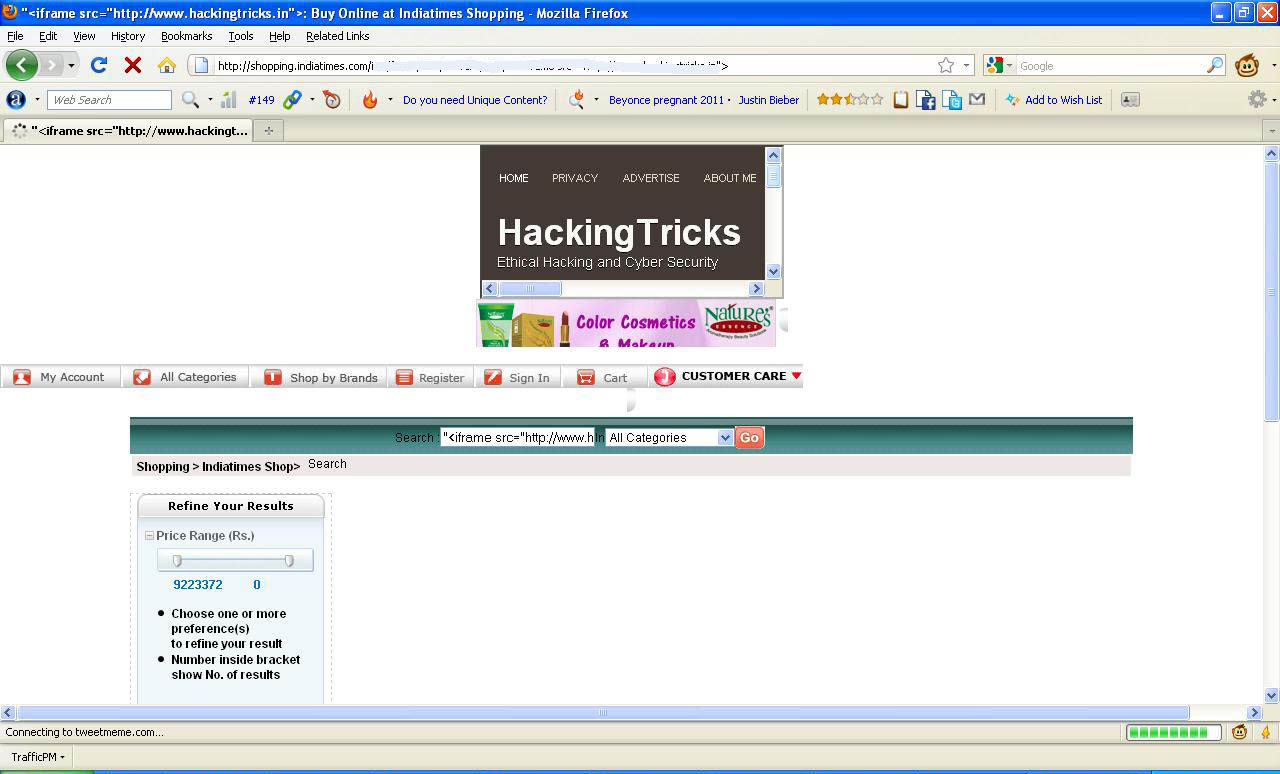 Serious vulnerabilities found by deepanker verma on online for New online shoping site