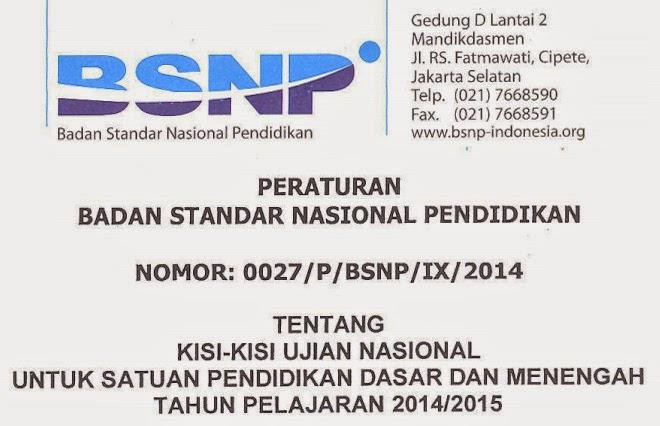 Kisi-kisi Soal Ujian Nasional 2015 SMP/MTs, SMA/MA/SMK
